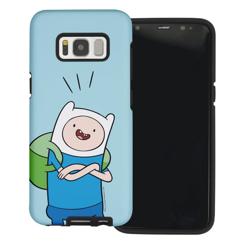 Galaxy Note4 Case Adventure Time Layered Hybrid [TPU + PC] Bumper Cover - Vivid Finn