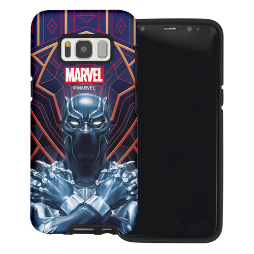 Galaxy S6 Case (5.1inch) Marvel Avengers Layered Hybrid [TPU + PC] Bumper Cover - Panther Face Lines