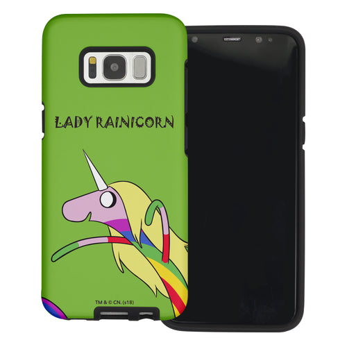 Galaxy Note4 Case Adventure Time Layered Hybrid [TPU + PC] Bumper Cover - Lovely Lady Rainicorn