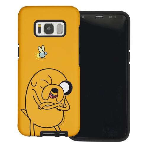 Galaxy S6 Edge Case Adventure Time Layered Hybrid [TPU + PC] Bumper Cover - Vivid Jake