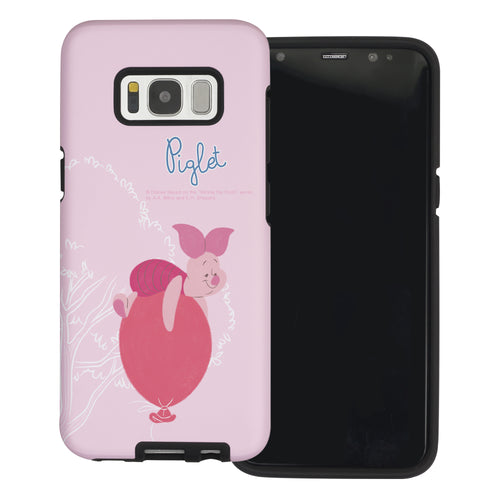 Galaxy S8 Case (5.8inch) Disney Pooh Layered Hybrid [TPU + PC] Bumper Cover - Balloon Piglet
