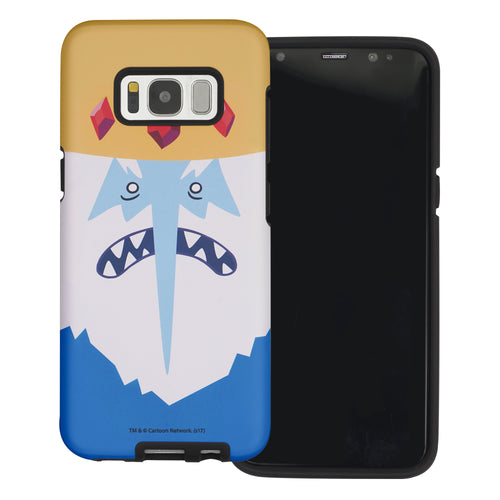 Galaxy S6 Edge Case Adventure Time Layered Hybrid [TPU + PC] Bumper Cover - Ice King