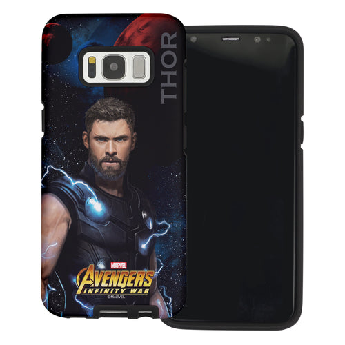 Galaxy S6 Case (5.1inch) Marvel Avengers Layered Hybrid [TPU + PC] Bumper Cover - War Tho