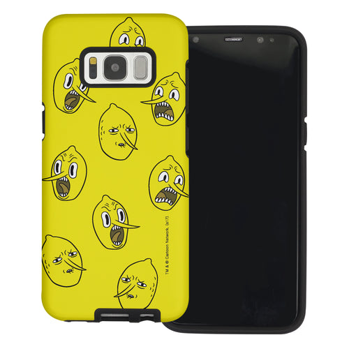 Galaxy S6 Edge Case Adventure Time Layered Hybrid [TPU + PC] Bumper Cover - Pattern Lemongrab