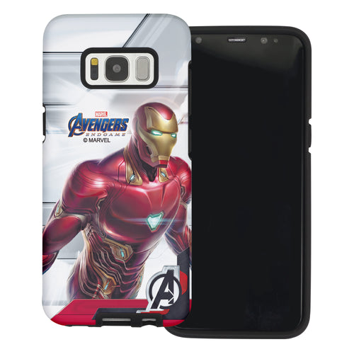 Galaxy S6 Edge Case Marvel Avengers Layered Hybrid [TPU + PC] Bumper Cover - Game Iron