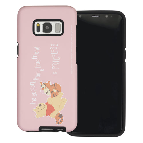 Galaxy S8 Plus Case Disney Pooh Layered Hybrid [TPU + PC] Bumper Cover - Words Pooh Tigger