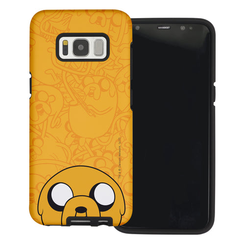Galaxy Note4 Case Adventure Time Layered Hybrid [TPU + PC] Bumper Cover - Pattern Jake Big