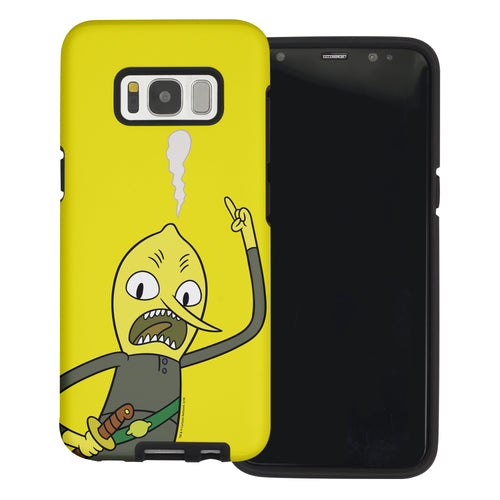 Galaxy Note4 Case Adventure Time Layered Hybrid [TPU + PC] Bumper Cover - Vivid Lemongrab