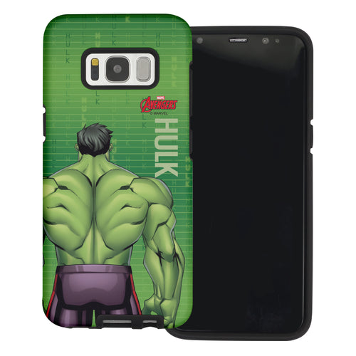 Galaxy S6 Case (5.1inch) Marvel Avengers Layered Hybrid [TPU + PC] Bumper Cover - Back Huk