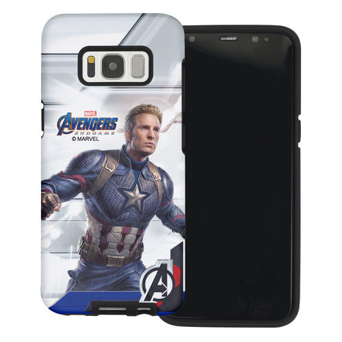 Galaxy S6 Edge Case Marvel Avengers Layered Hybrid [TPU + PC] Bumper Cover - Game Captain