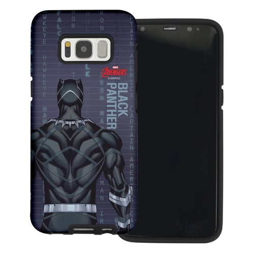 Galaxy S7 Edge Case Marvel Avengers Layered Hybrid [TPU + PC] Bumper Cover - Back Panther