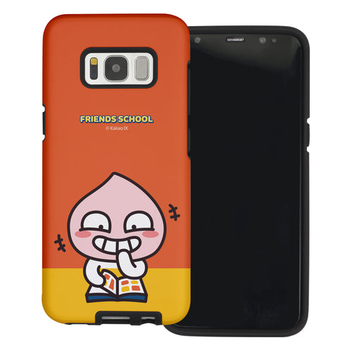 Galaxy S8 Plus Case Kakao Friends Layered Hybrid [TPU + PC] Bumper Cover - School Apeach