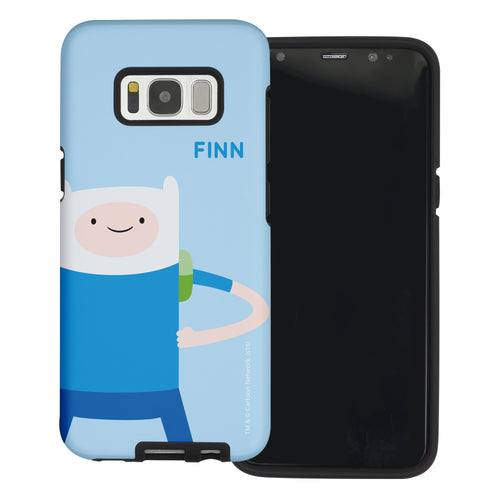 Galaxy Note4 Case Adventure Time Layered Hybrid [TPU + PC] Bumper Cover - Cuty Finn