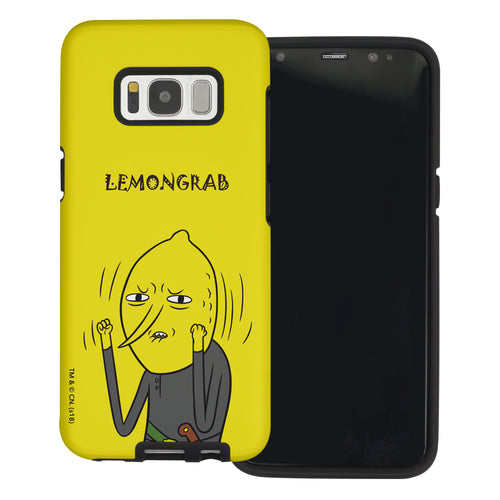 Galaxy S6 Edge Case Adventure Time Layered Hybrid [TPU + PC] Bumper Cover - Lovely Lemongrab