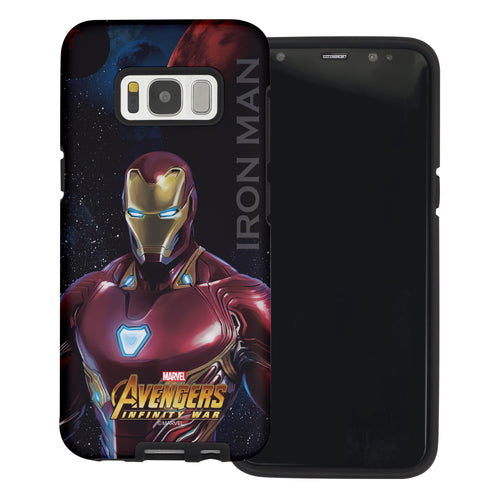 Galaxy S6 Case (5.1inch) Marvel Avengers Layered Hybrid [TPU + PC] Bumper Cover - War Iron