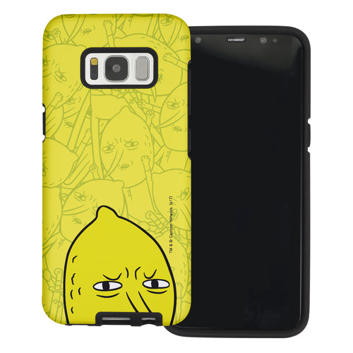Galaxy Note4 Case Adventure Time Layered Hybrid [TPU + PC] Bumper Cover - Pattern Lemongrab Big