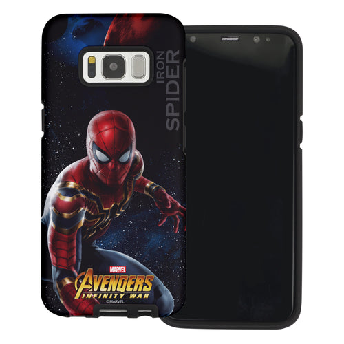 Galaxy S6 Case (5.1inch) Marvel Avengers Layered Hybrid [TPU + PC] Bumper Cover - War Spider