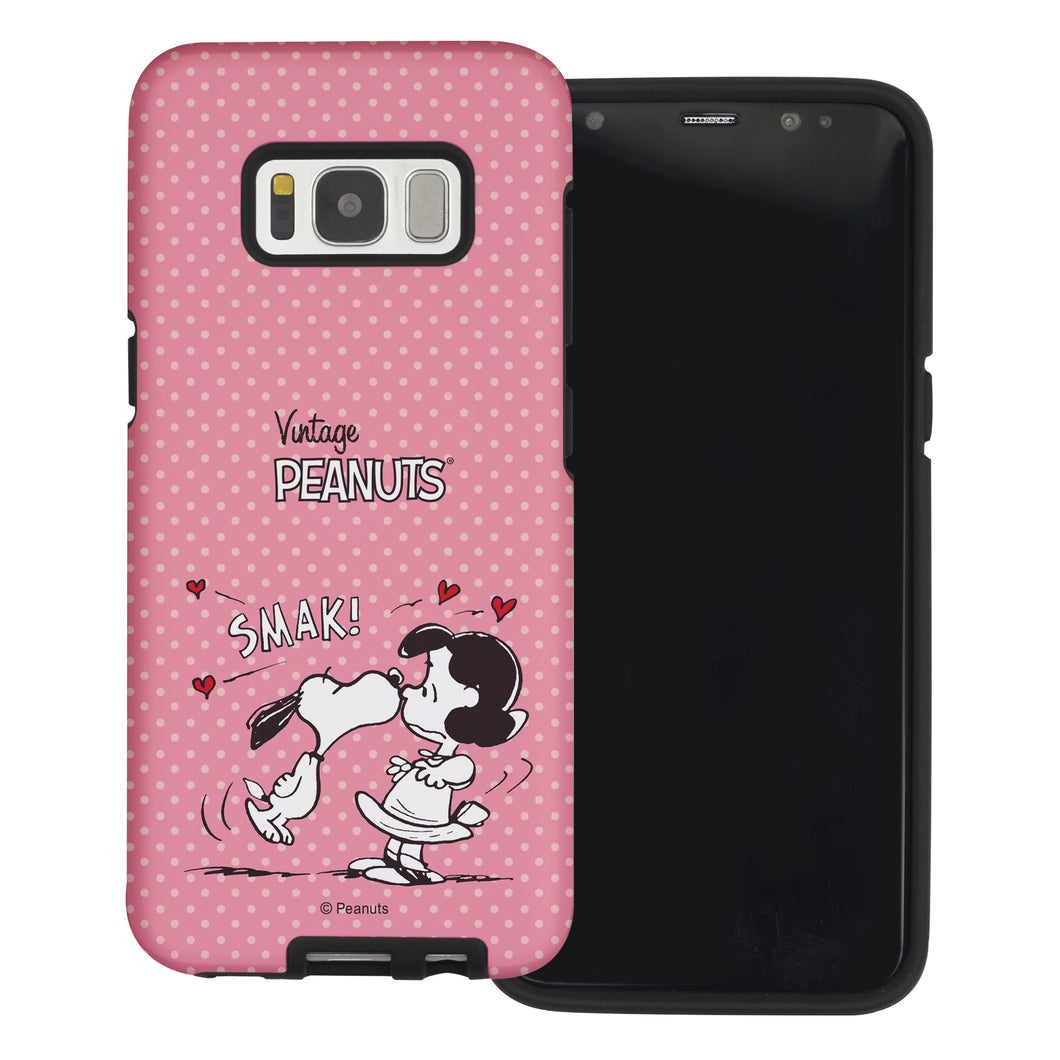 Galaxy S8 Case (5.8inch) PEANUTS Layered Hybrid [TPU + PC] Bumper Cover - Smack Snoopy Lucy