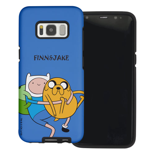 Galaxy S6 Edge Case Adventure Time Layered Hybrid [TPU + PC] Bumper Cover - Lovely Finn and Jake