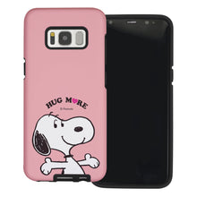 Load image into Gallery viewer, Galaxy S8 Plus Case PEANUTS Layered Hybrid [TPU + PC] Bumper Cover - Hug Snoopy