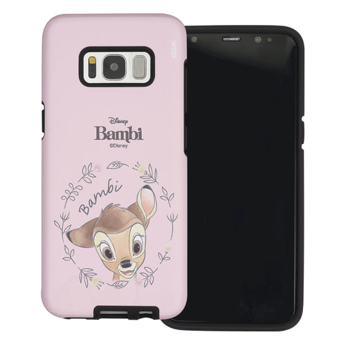 Galaxy S8 Case (5.8inch) Disney Bambi Layered Hybrid [TPU + PC] Bumper Cover - Face Bambi