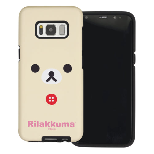 Galaxy S8 Plus Case Rilakkuma Layered Hybrid [TPU + PC] Bumper Cover - Face Korilakkuma