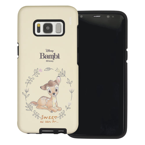 Galaxy S8 Plus Case Disney Bambi Layered Hybrid [TPU + PC] Bumper Cover - Full Bambi