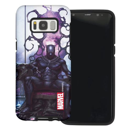 Galaxy S6 Edge Case Marvel Avengers Layered Hybrid [TPU + PC] Bumper Cover - Panther Sit