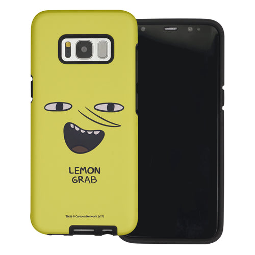Galaxy S6 Edge Case Adventure Time Layered Hybrid [TPU + PC] Bumper Cover - Lemongrab