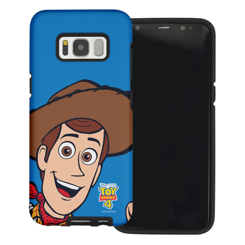 Galaxy S8 Plus Case Toy Story Layered Hybrid [TPU + PC] Bumper Cover - Wide Woody