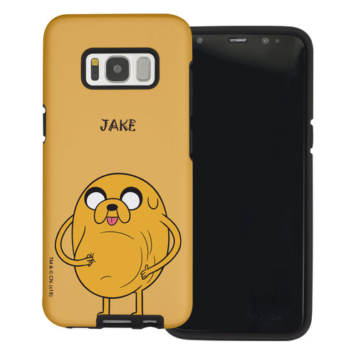 Galaxy S6 Edge Case Adventure Time Layered Hybrid [TPU + PC] Bumper Cover - Lovely Jake