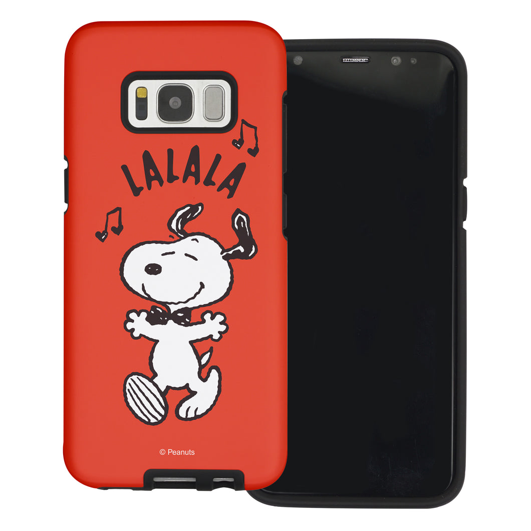 Galaxy S8 Plus Case PEANUTS Layered Hybrid [TPU + PC] Bumper Cover - Snoopy Lalala