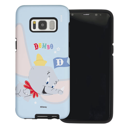 Galaxy S8 Case (5.8inch) Disney Dumbo Layered Hybrid [TPU + PC] Bumper Cover - Dumbo Fly