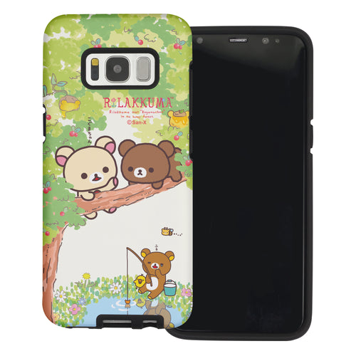 Galaxy Note4 Case Rilakkuma Layered Hybrid [TPU + PC] Bumper Cover - Rilakkuma Forest