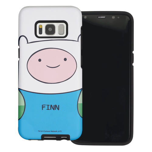 Galaxy Note4 Case Adventure Time Layered Hybrid [TPU + PC] Bumper Cover - Finn Mertens