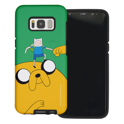 Galaxy Note4 Case Adventure Time Layered Hybrid [TPU + PC] Bumper Cover - Cuty Jake Big