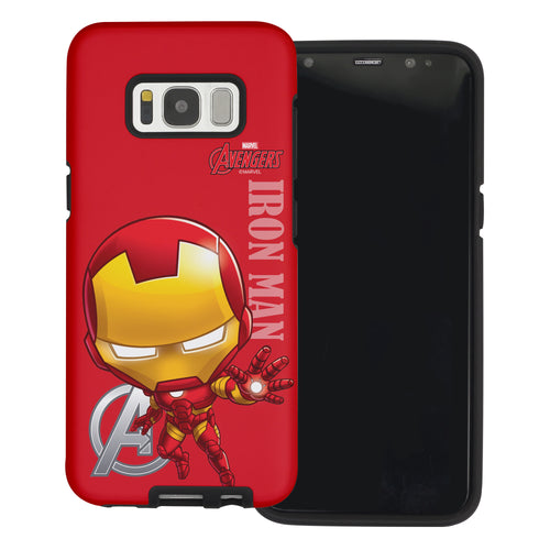 Galaxy S6 Case (5.1inch) Marvel Avengers Layered Hybrid [TPU + PC] Bumper Cover - Mini Iron