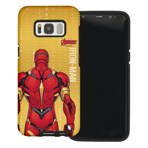 Galaxy S6 Edge Case Marvel Avengers Layered Hybrid [TPU + PC] Bumper Cover - Back Iron