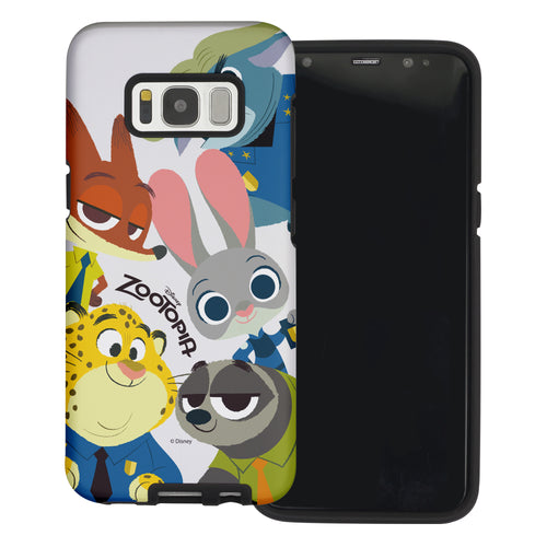 Galaxy S8 Case (5.8inch) Disney Zootopia Layered Hybrid [TPU + PC] Bumper Cover - Zootopia Big