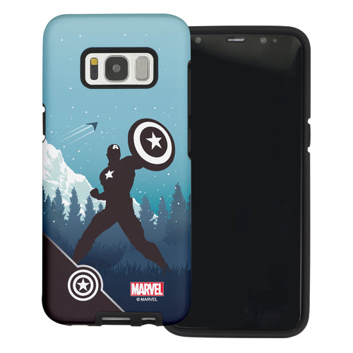 Galaxy S6 Case (5.1inch) Marvel Avengers Layered Hybrid [TPU + PC] Bumper Cover - Shadow Captain