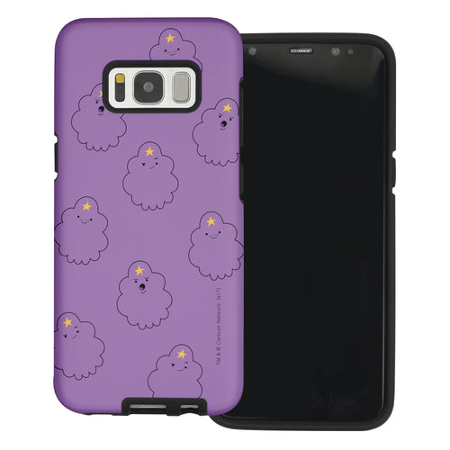 Galaxy Note4 Case Adventure Time Layered Hybrid [TPU + PC] Bumper Cover - Pattern Lumpy