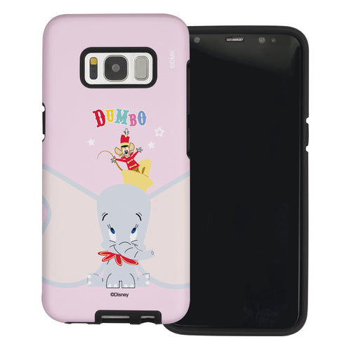 Galaxy S8 Case (5.8inch) Disney Dumbo Layered Hybrid [TPU + PC] Bumper Cover - Dumbo Overhead