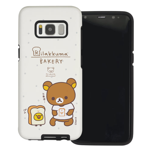 Galaxy Note4 Case Rilakkuma Layered Hybrid [TPU + PC] Bumper Cover - Rilakkuma Bread
