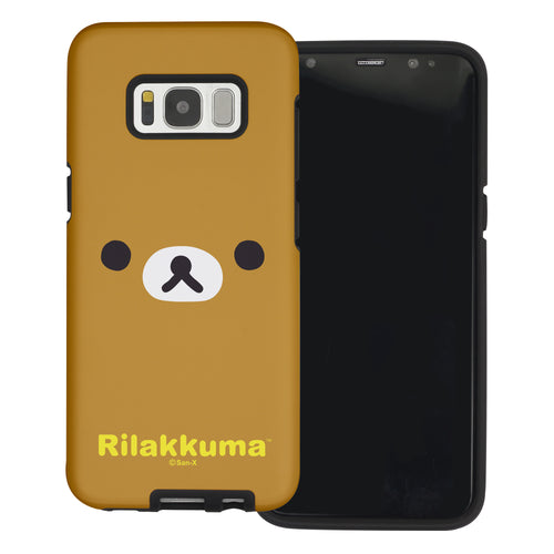 Galaxy S8 Plus Case Rilakkuma Layered Hybrid [TPU + PC] Bumper Cover - Face Rilakkuma