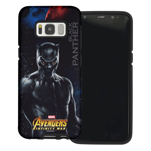Galaxy S6 Case (5.1inch) Marvel Avengers Layered Hybrid [TPU + PC] Bumper Cover - War Panther