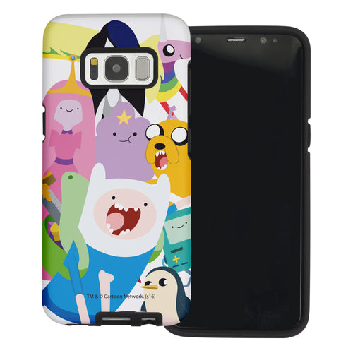 Galaxy S6 Edge Case Adventure Time Layered Hybrid [TPU + PC] Bumper Cover - Cuty Adventure Time