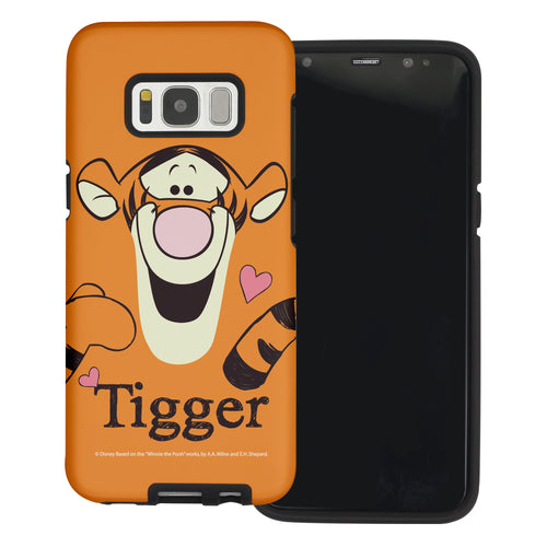 Galaxy S7 Edge Case Disney Pooh Layered Hybrid [TPU + PC] Bumper Cover - Face Line Tigger