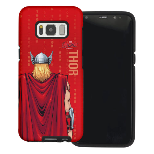 Galaxy S6 Case (5.1inch) Marvel Avengers Layered Hybrid [TPU + PC] Bumper Cover - Back Tho