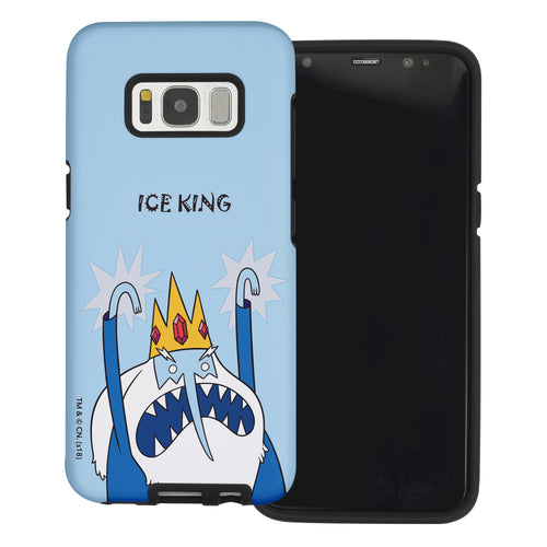 Galaxy S6 Edge Case Adventure Time Layered Hybrid [TPU + PC] Bumper Cover - Lovely Ice King