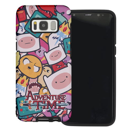 Galaxy S6 Edge Case Adventure Time Layered Hybrid [TPU + PC] Bumper Cover - Adventure Time